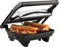 Hamilton Beach Chrome Panini Press 25460 with 2 Skewers Grill, Toast