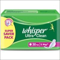 Whisper Ultra Clean XL Wings Sanitary Pad(Pack of 30)