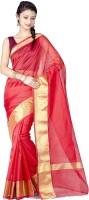 Chandrakala Woven Banarasi Banarasi Silk Saree(Red)