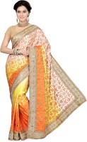 Ishin Embellished Fashion Satin Saree(Multicolor)