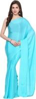 Aksara Self Design Daily Wear Crepe Saree(Light Blue)