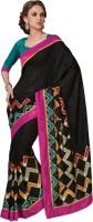Bhavi Self Design Fashion Art Silk Saree(Black)