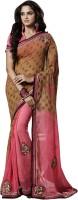 Khoobee Self Design Fashion Chiffon Saree(Multicolor)