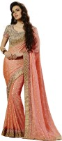 Saara Self Design Fashion Chiffon Saree(Pink)