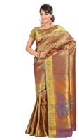 Varkala Silk Sarees Woven Kanjivaram Silk Saree(Blue)