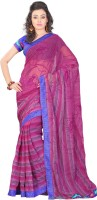 Lookslady Floral Print Fashion Chiffon Saree(Pink)