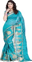 Ansu Fashion Embellished Banarasi Banarasi Silk Saree(Light Blue)