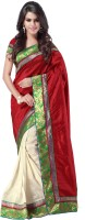 Weavedeal Embellished, Self Design Banarasi Banarasi Silk Saree(Maroon)