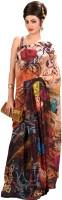 Shubham Fashions Printed Fashion Chiffon Saree(Multicolor)