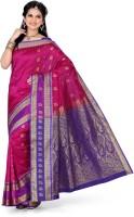 Ishin Printed Kanjivaram Art Silk Saree(Pink)