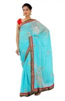 Shri Narayan Fashions Embellished Fashion Jacquard Saree(Blue)