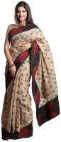 Kataan Bazaar Self Design Banarasi Art Silk Saree(Beige)
