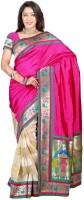 Weavedeal Embellished Banarasi Art Silk Saree(Pink)