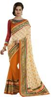 Ewows Self Design Fashion Jacquard Saree(Orange)