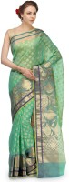 Bunkar Printed Banarasi Cotton Saree(Multicolor)