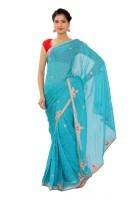 Shri Narayan Fashions Self Design Fashion Jacquard Saree(Blue)