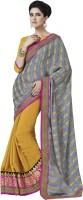 Melluha Embroidered Fashion Jacquard Saree(Grey)