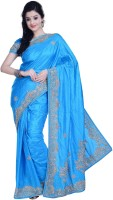 Ambition Embellished Fashion Silk Saree(Blue)
