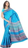 Khoobee Printed Fashion Tussar Silk Saree(Light Blue)