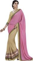 Melluha Embroidered Fashion Jacquard Saree(Pink)
