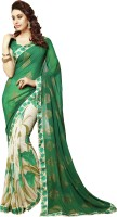 Bhavi Printed Fashion Georgette Saree(Green)