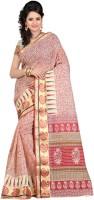 Ansu Fashion Printed Fashion Cotton Saree(Red)