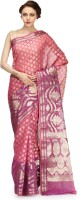 Bunkar Self Design Banarasi Cotton Saree(Multicolor)