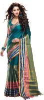Sunaina Solid Chettinadu Cotton Saree(Multicolor)