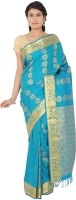 Thara Sarees Self Design Kanjivaram Art Silk Saree(Light Blue)