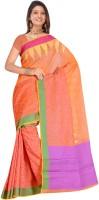 MGS Printed Fashion Handloom Silk Saree(Orange)
