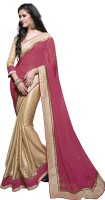 Khoobee Embroidered Fashion Poly Georgette Saree(Gold)