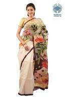 Tantuja Self Design Murshidabad Handloom Silk Saree(Multicolor)
