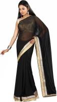 Anushree Saree Solid Fashion Poly Chanderi Saree(Multicolor)