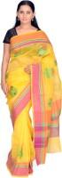 Jagadamba Self Design Fashion Silk Saree(Yellow)
