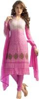 Shreeji Fashion Chiffon Self Design, Embroidered Salwar Suit Dupatta Material(Un-stitched)