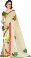 Nairiti Fashions Printed Fashion Georgette Saree(Yellow)