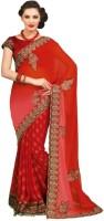 Chirag Sarees Self Design Chanderi Chanderi Saree(Red)