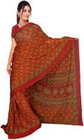 Jiya Self Design, Printed Fashion Chiffon Saree(Multicolor, Red, Green, Yellow)