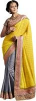 We Desi Self Design Fashion Georgette Saree(Yellow)