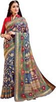 Bhavi Printed Fashion Art Silk Saree(Blue)