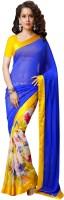 Welcome Fashion Polka Print Fashion Handloom Satin, Silk Saree(Multicolor)