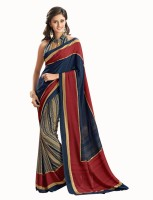 Bhavi Printed Fashion Crepe Saree(Blue)
