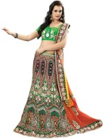 Triveni Self Design Lehenga Saree Georgette Saree(Multicolor)