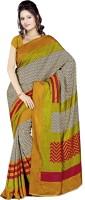 Sunaina Printed Art Silk Saree(Multicolor)