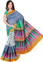 Khushali Geometric Print Bhagalpuri Art Silk Saree(Multicolor)