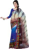 Vibes Printed Fashion Georgette Saree(Multicolor)
