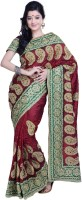 Ambition Embellished Fashion Silk Saree(Maroon)