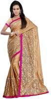 Dancing Girl Solid Bollywood Georgette Saree(Beige)
