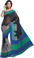 Sunaina Printed Cotton, Silk Saree(Multicolor)