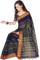 Ishin Printed Cotton Saree(Blue)